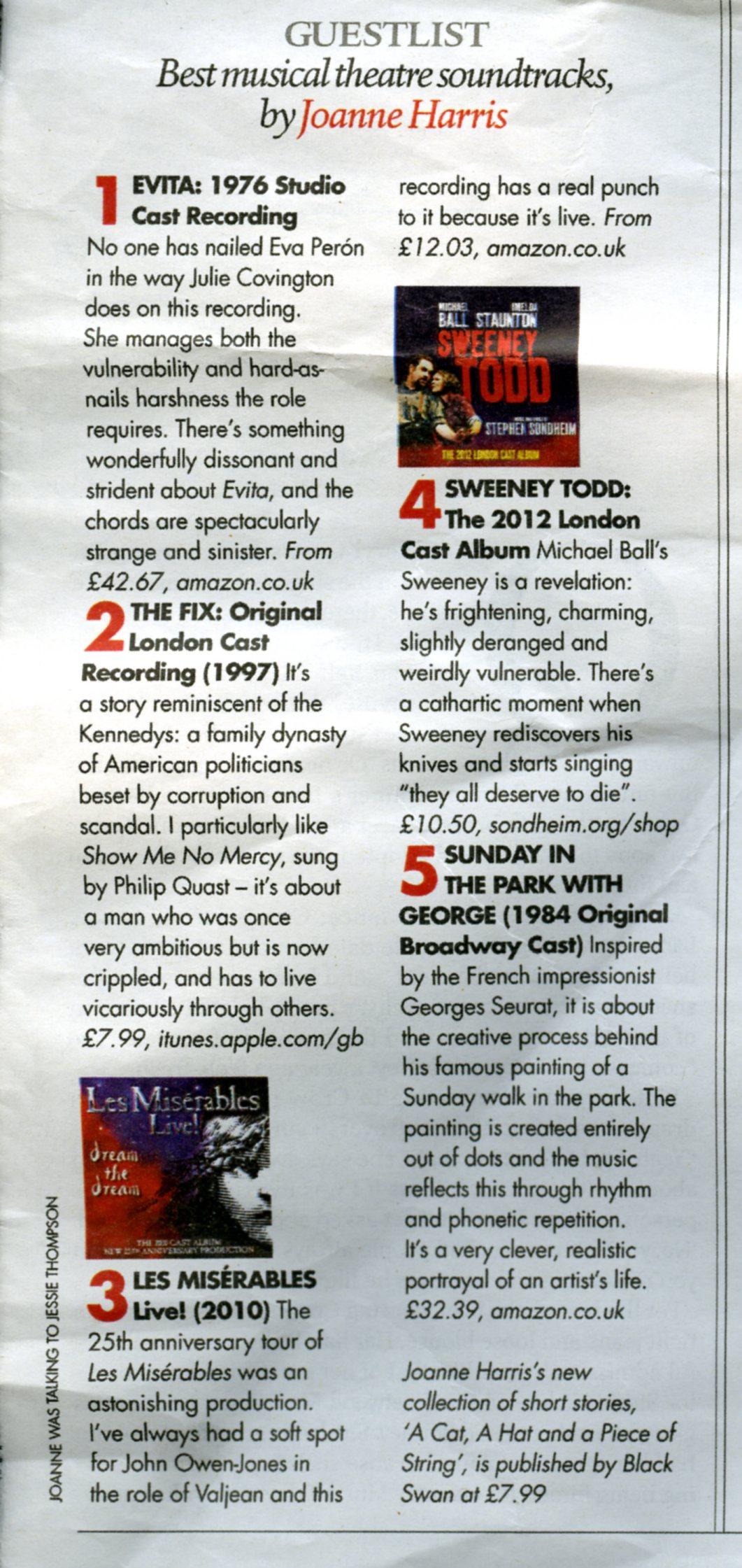 Top Five Musical Recordings
